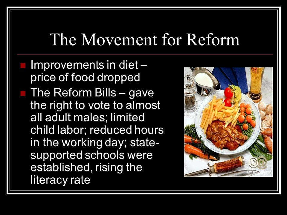 The Movement for Reform