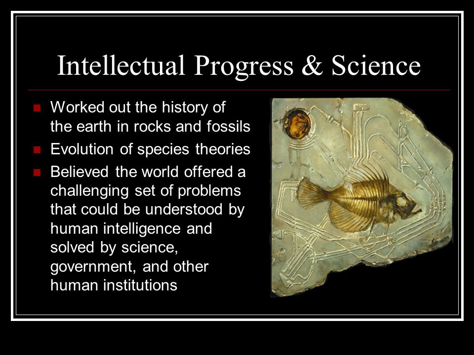 Intellectual Progress & Science