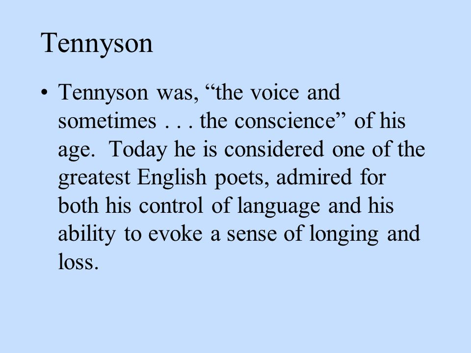 Use Of Nature In Tennysons Poetry