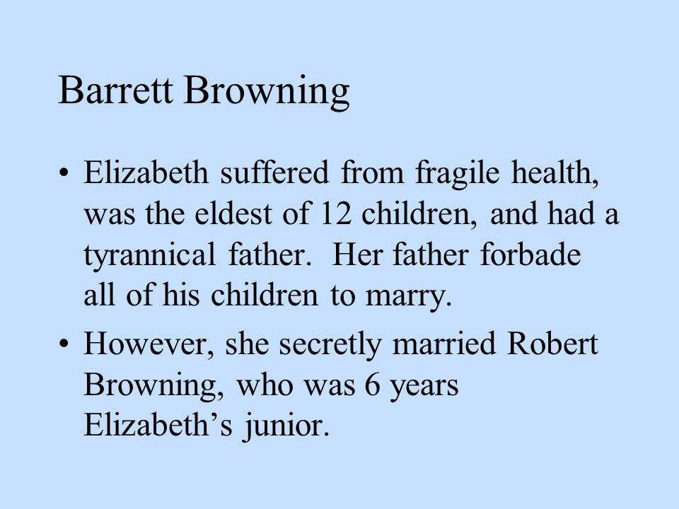 Barrett Browning