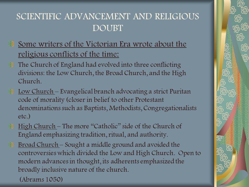 SCIENTIFIC ADVANCEMENT AND RELIGIOUS DOUBT