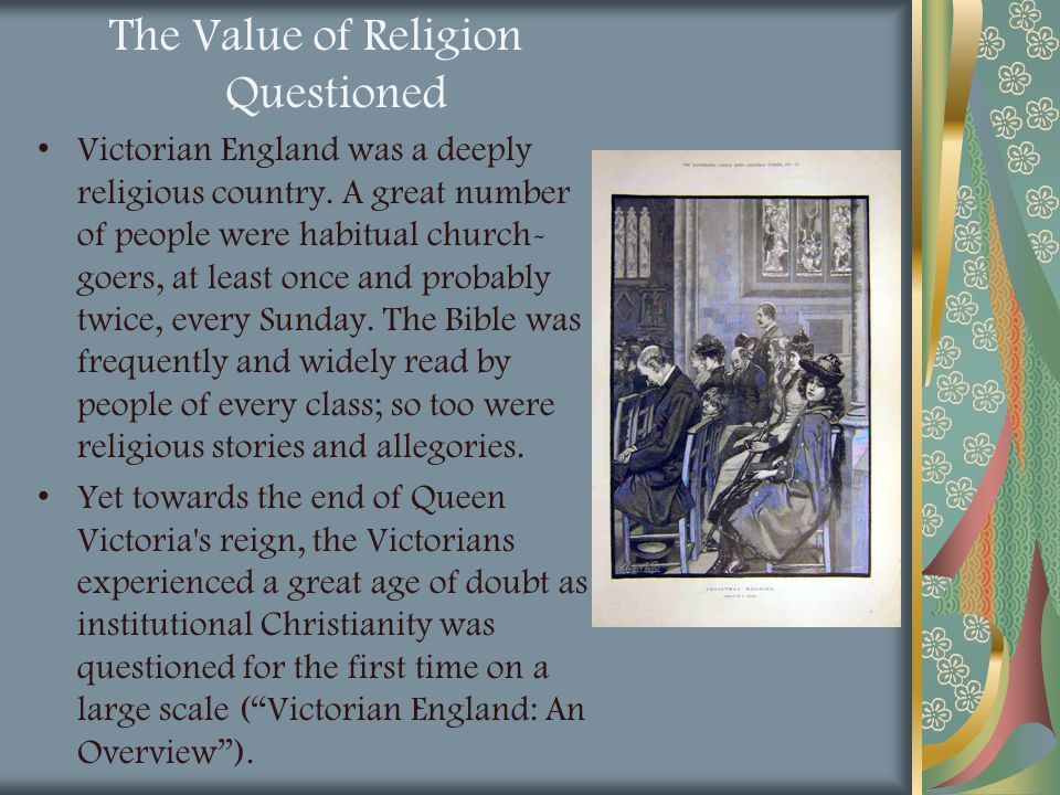 The Value of Religion Questioned