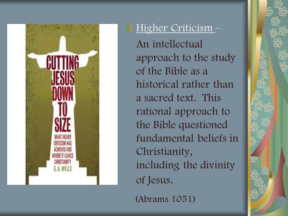 (Abrams 1051) Higher Criticism –