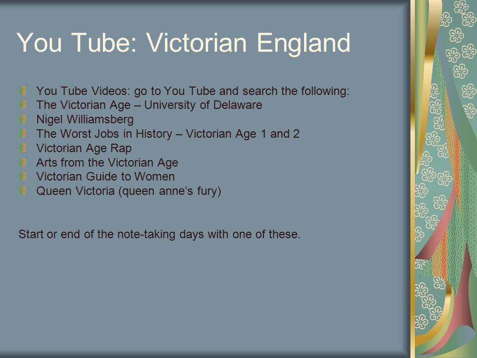 You Tube: Victorian England