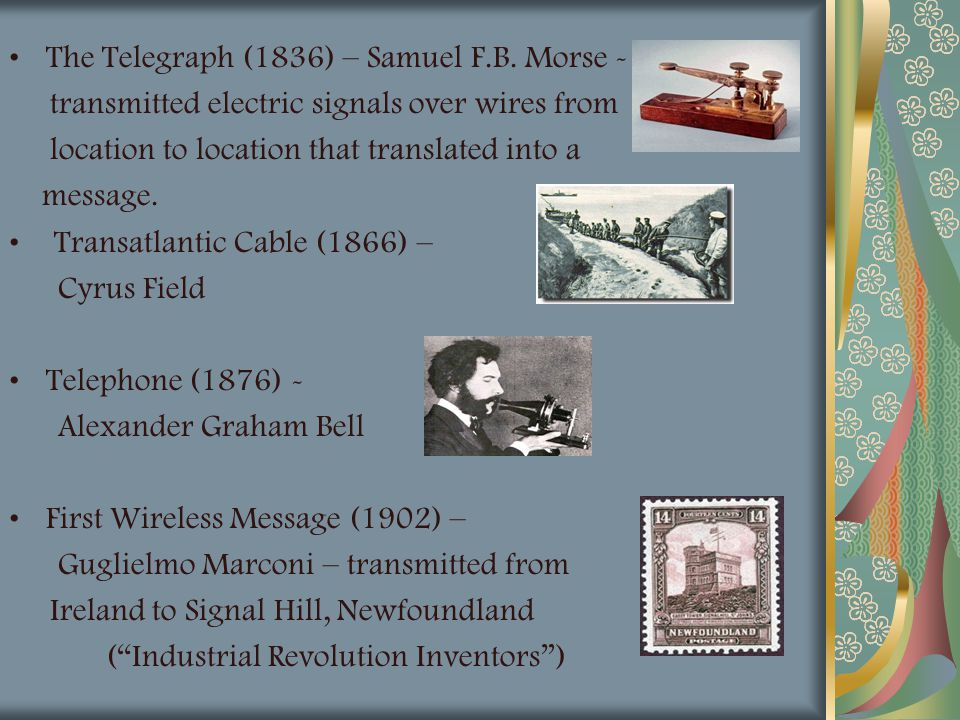 The Telegraph (1836) – Samuel F.B. Morse -
