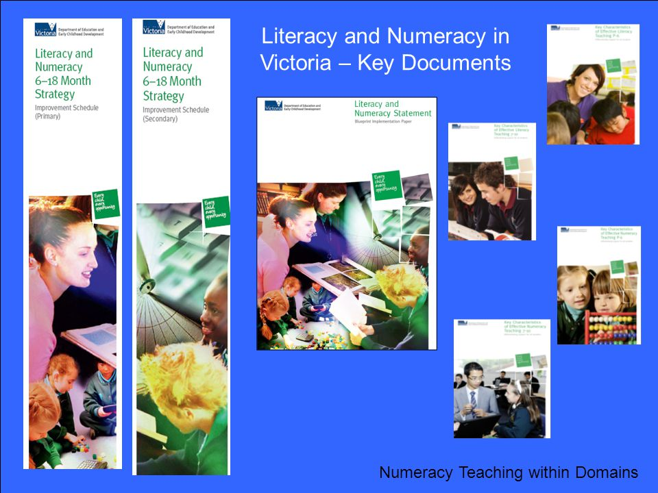 Literacy and Numeracy in Victoria – Key Documents