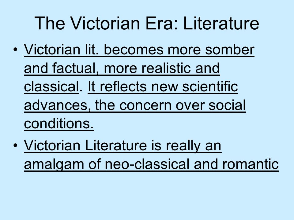 The Victorian Era: Literature