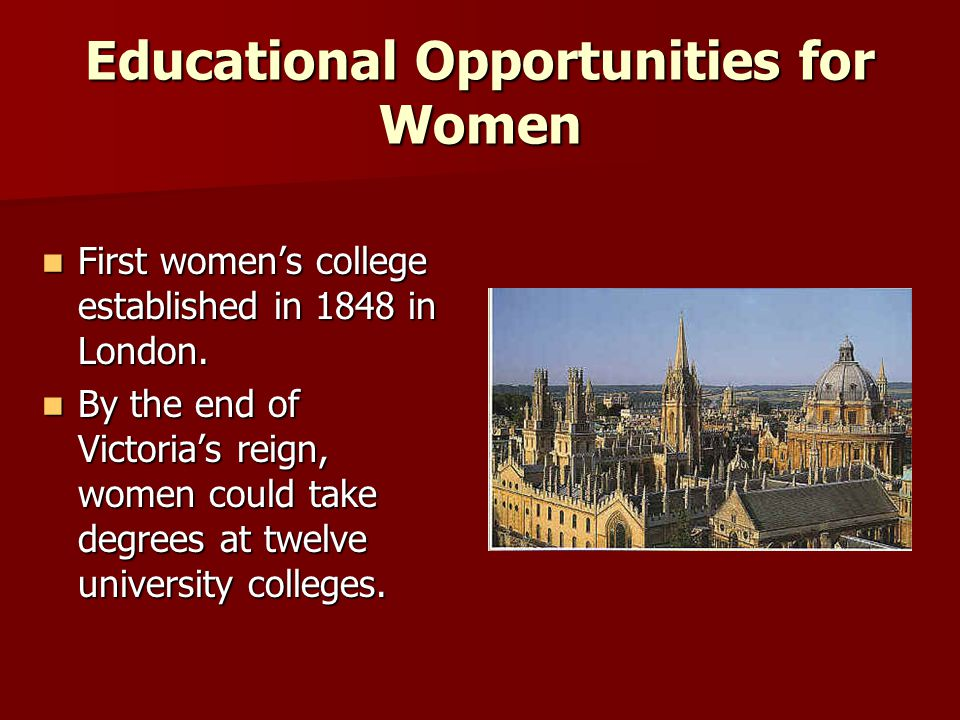 Educational Opportunities for Women