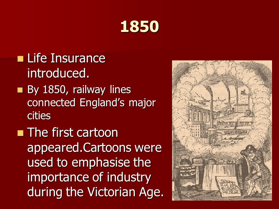 1850 Life Insurance introduced.