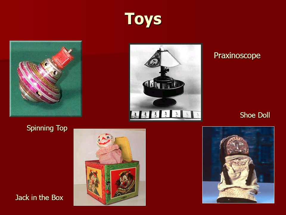 Toys Praxinoscope Shoe Doll Spinning Top Jack in the Box