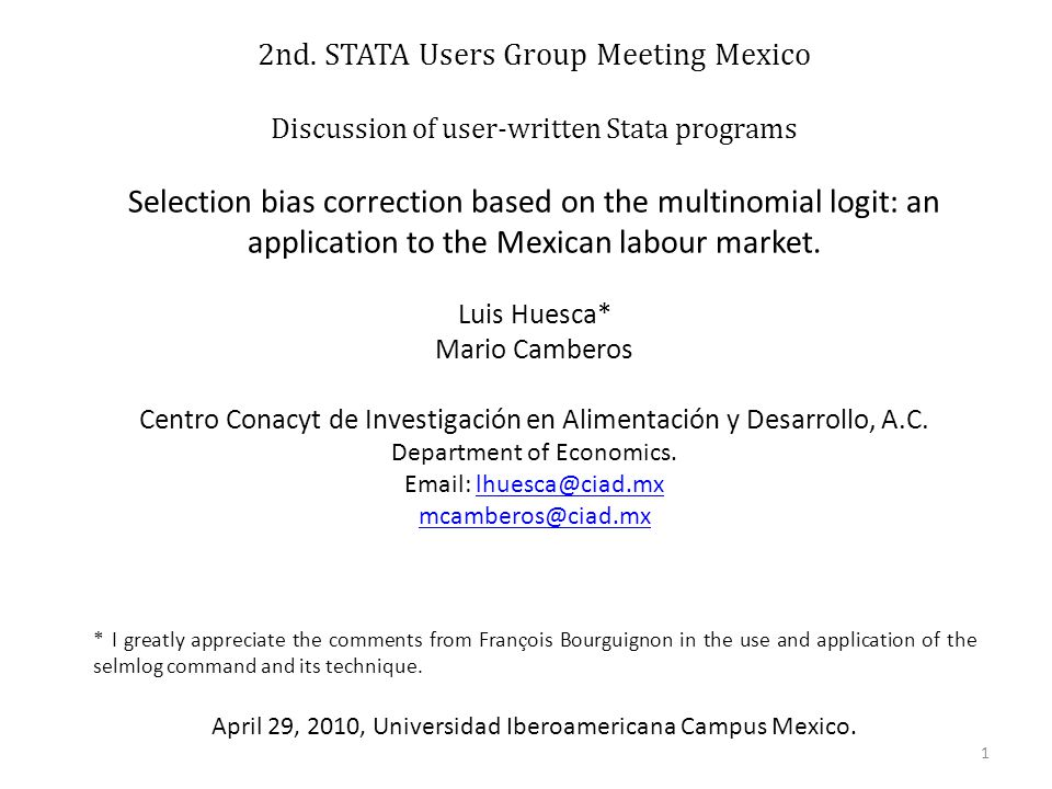 2nd. STATA Users Group Meeting Mexico
