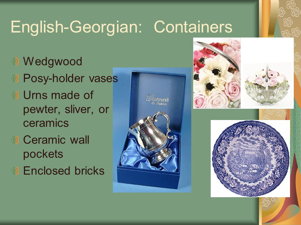 English-Georgian: Containers