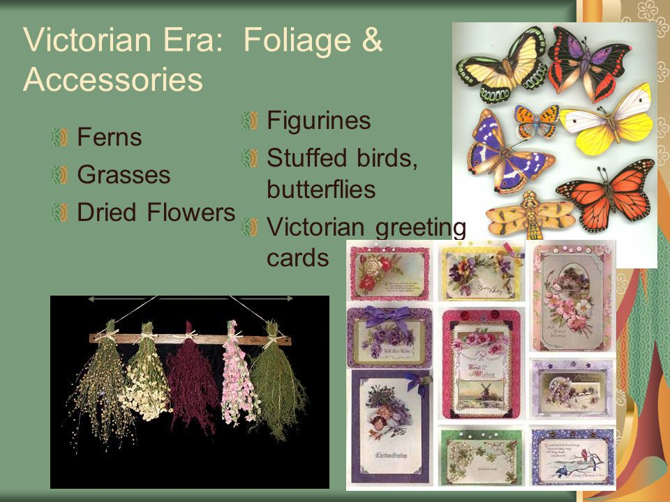 Victorian Era: Foliage & Accessories