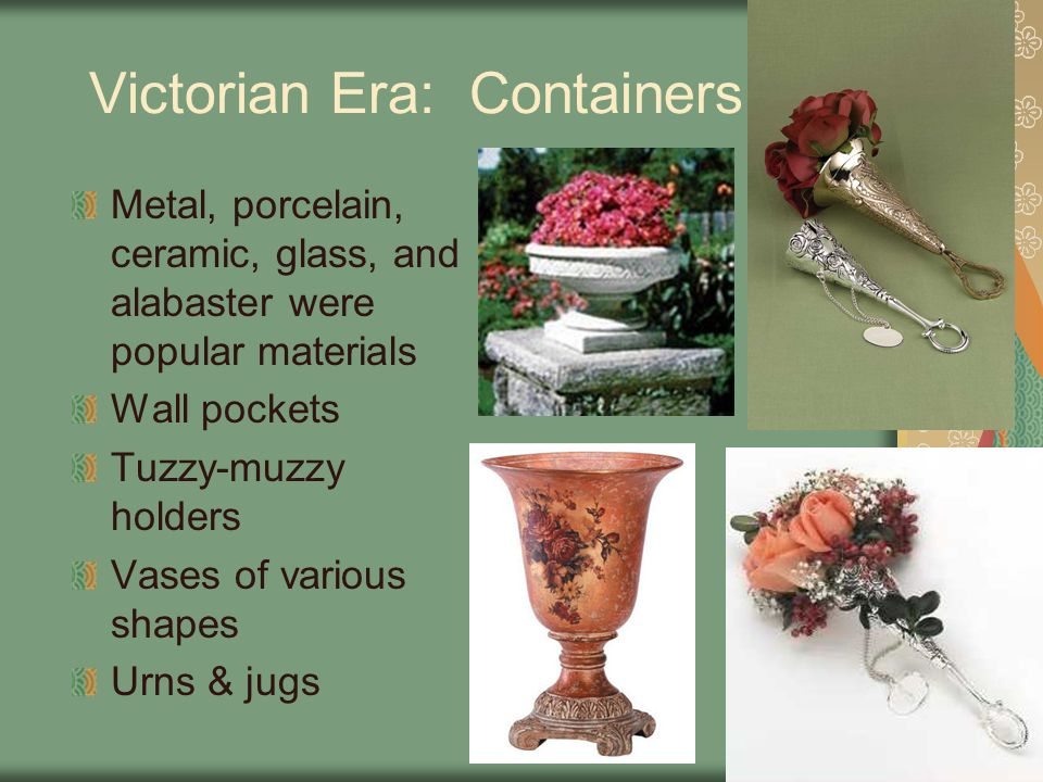 Victorian Era: Containers