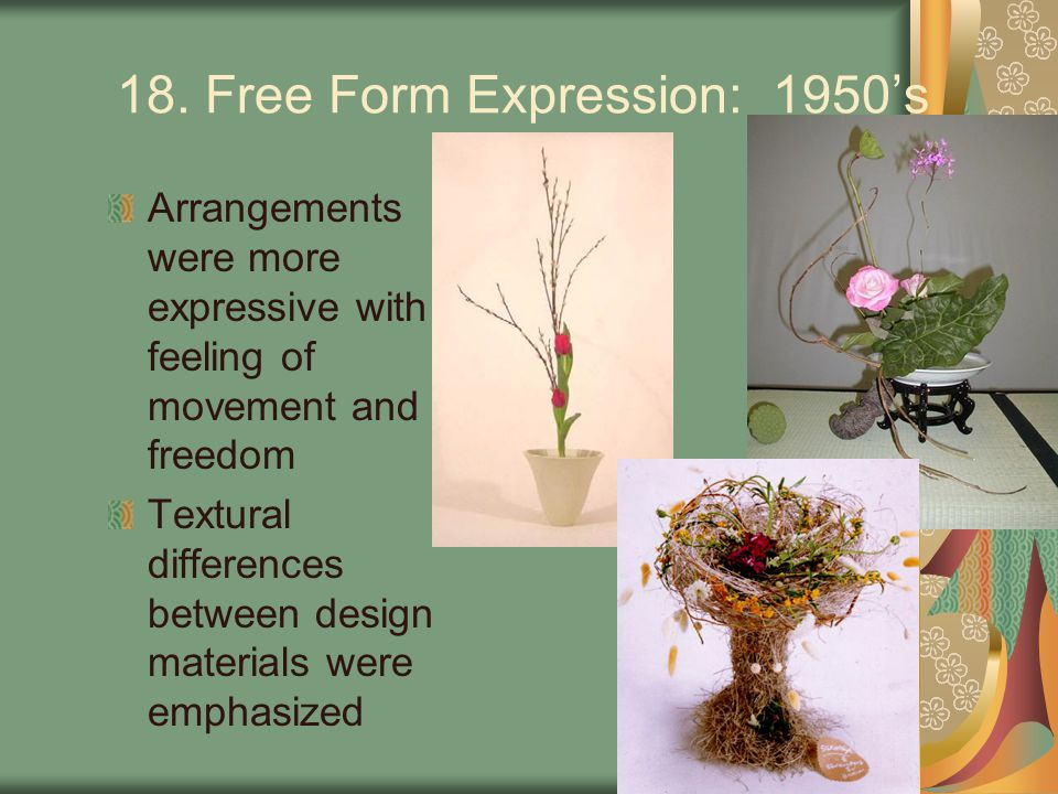 18. Free Form Expression: 1950's