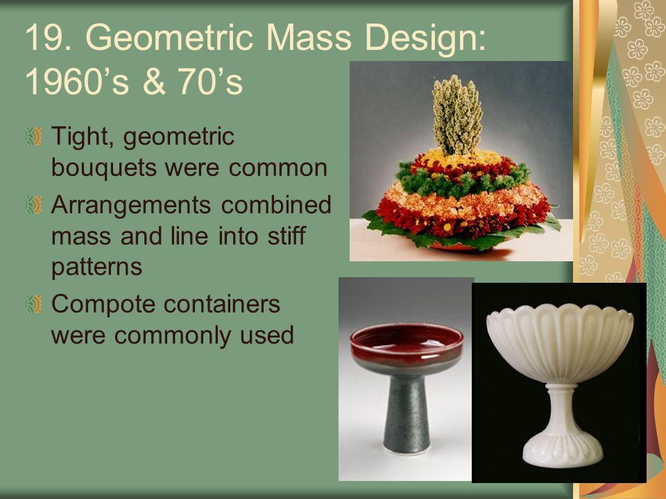 19. Geometric Mass Design: 1960's & 70's
