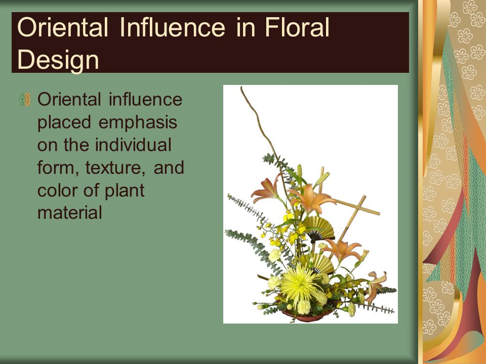 Oriental Influence in Floral Design