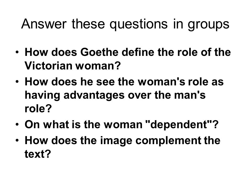 Answer these questions in groups