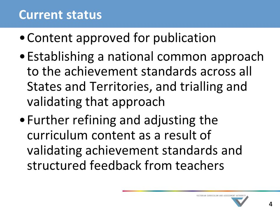Current status Content approved for publication.