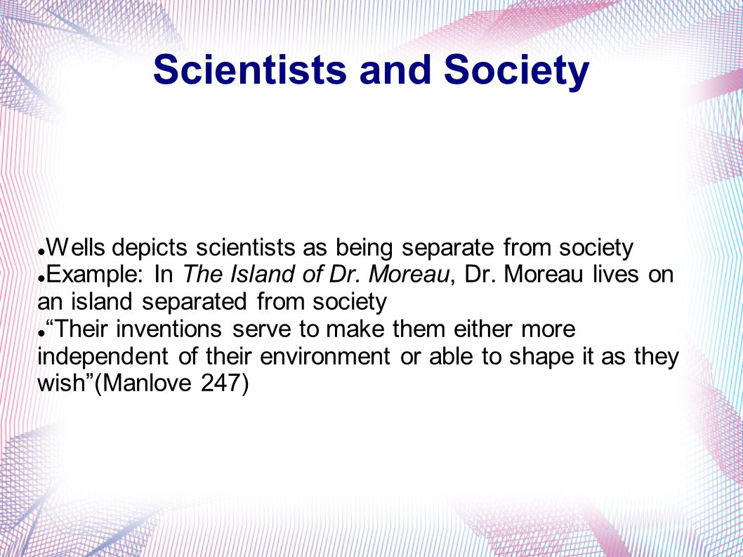 Scientists and Society