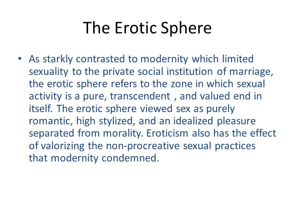 The Erotic Sphere