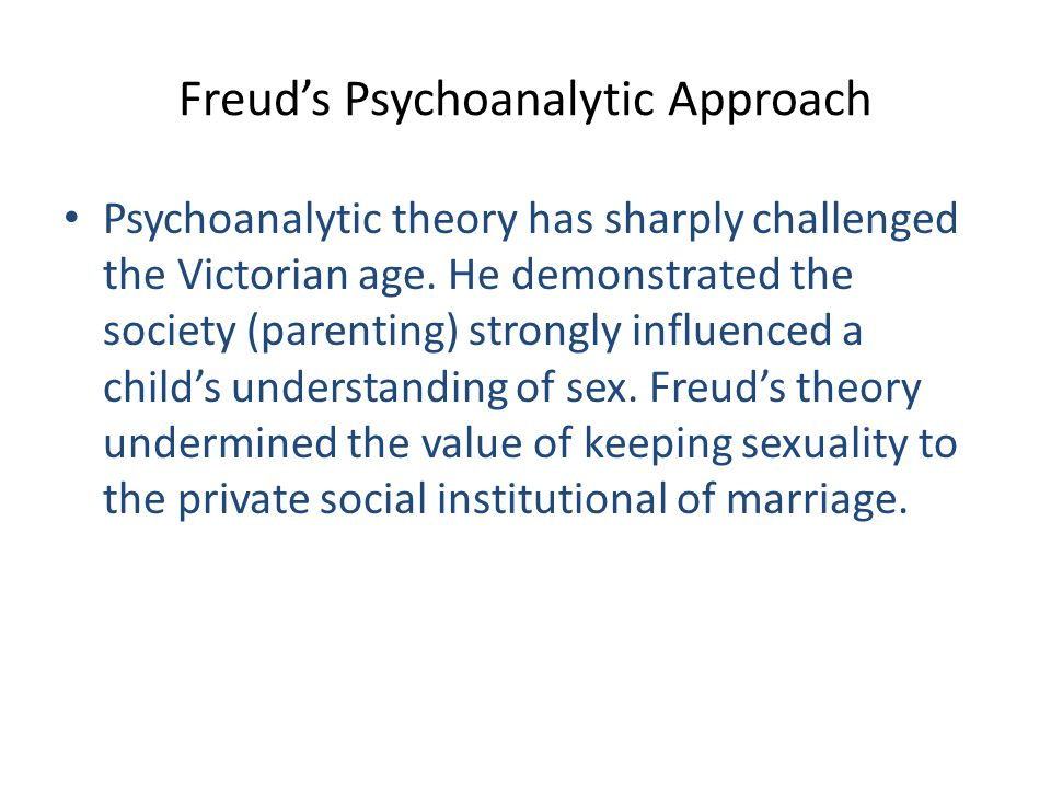 Freud's Psychoanalytic Approach