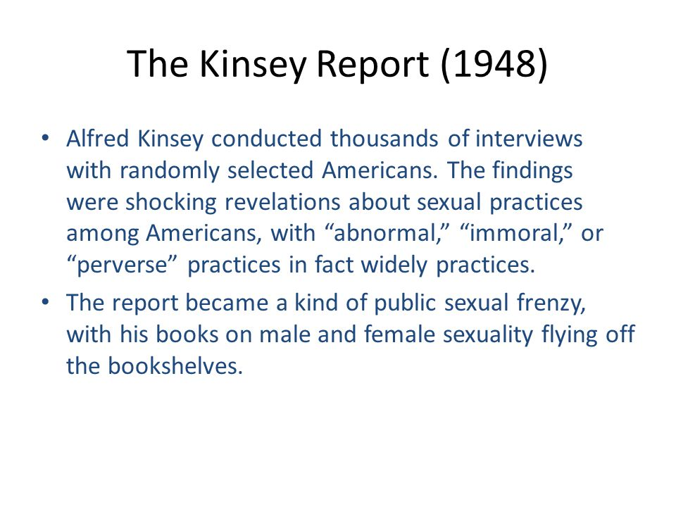 The Kinsey Report (1948)