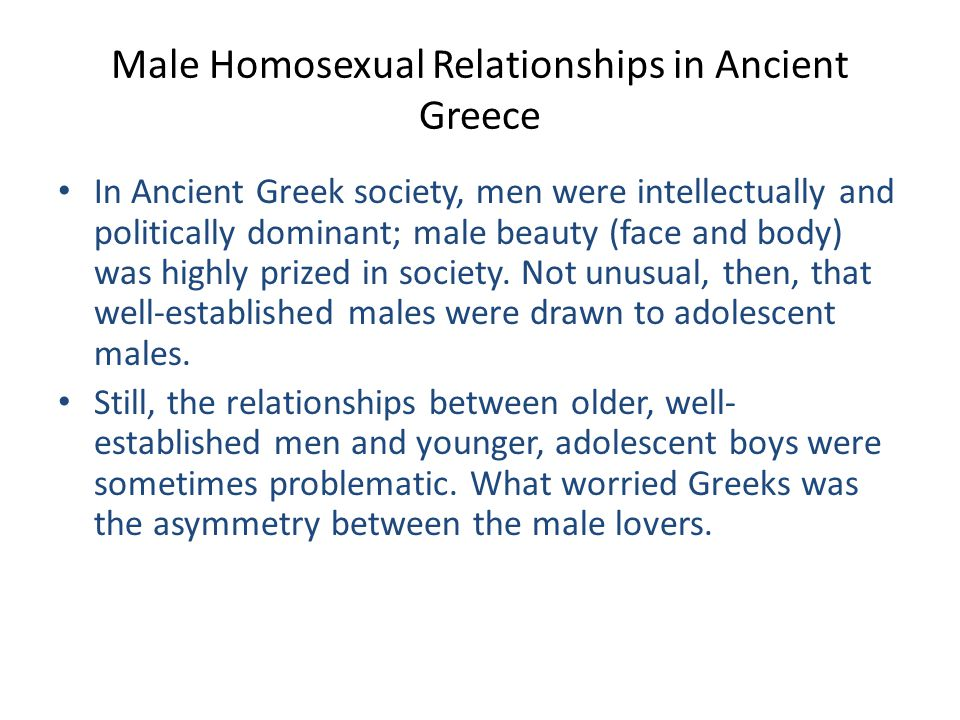 Male Homosexual Relationships in Ancient Greece