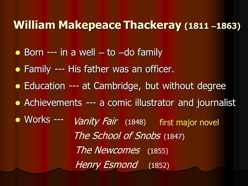 William Makepeace Thackeray (1811 –1863)