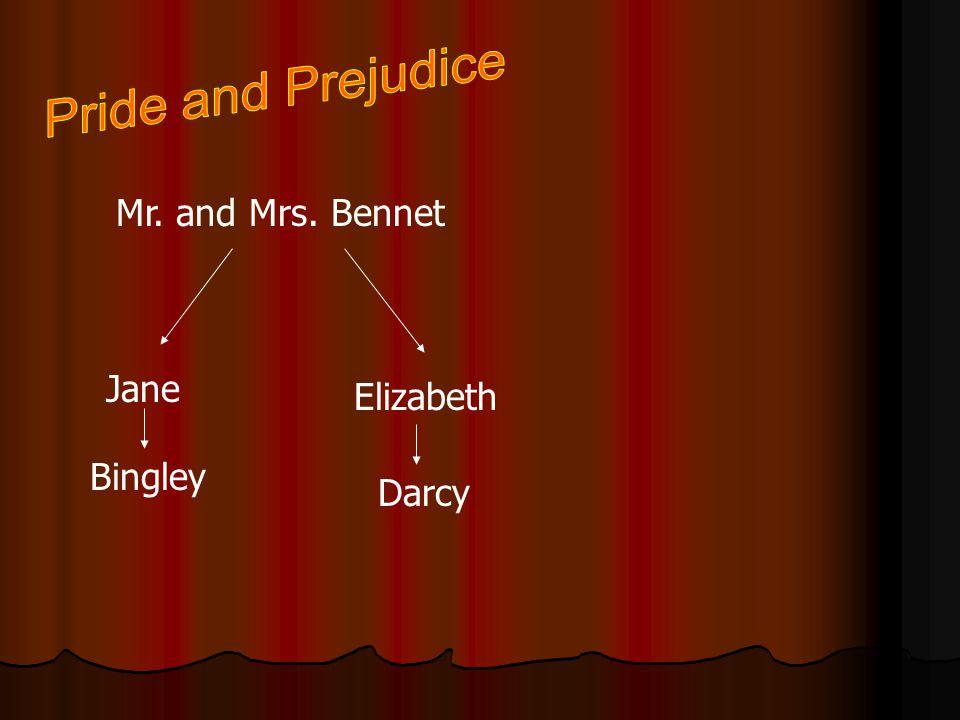 Pride and Prejudice Mr. and Mrs. Bennet Jane Elizabeth Bingley Darcy