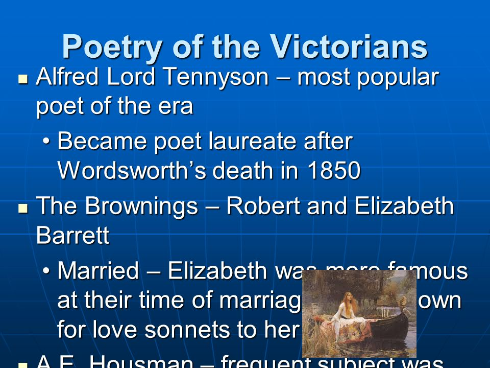 Poetry of the Victorians