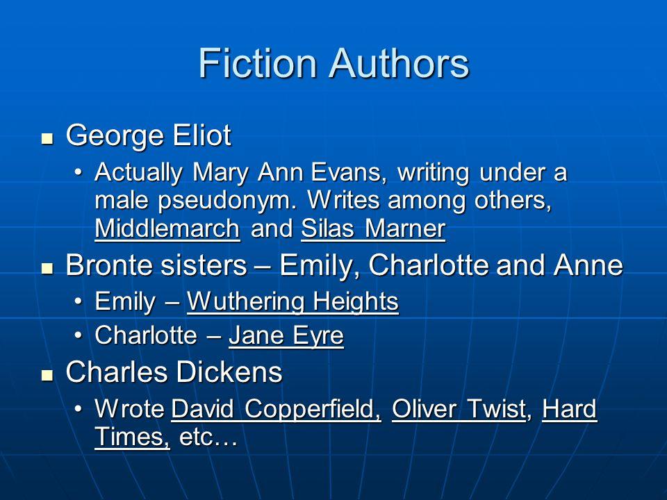 Fiction Authors George Eliot