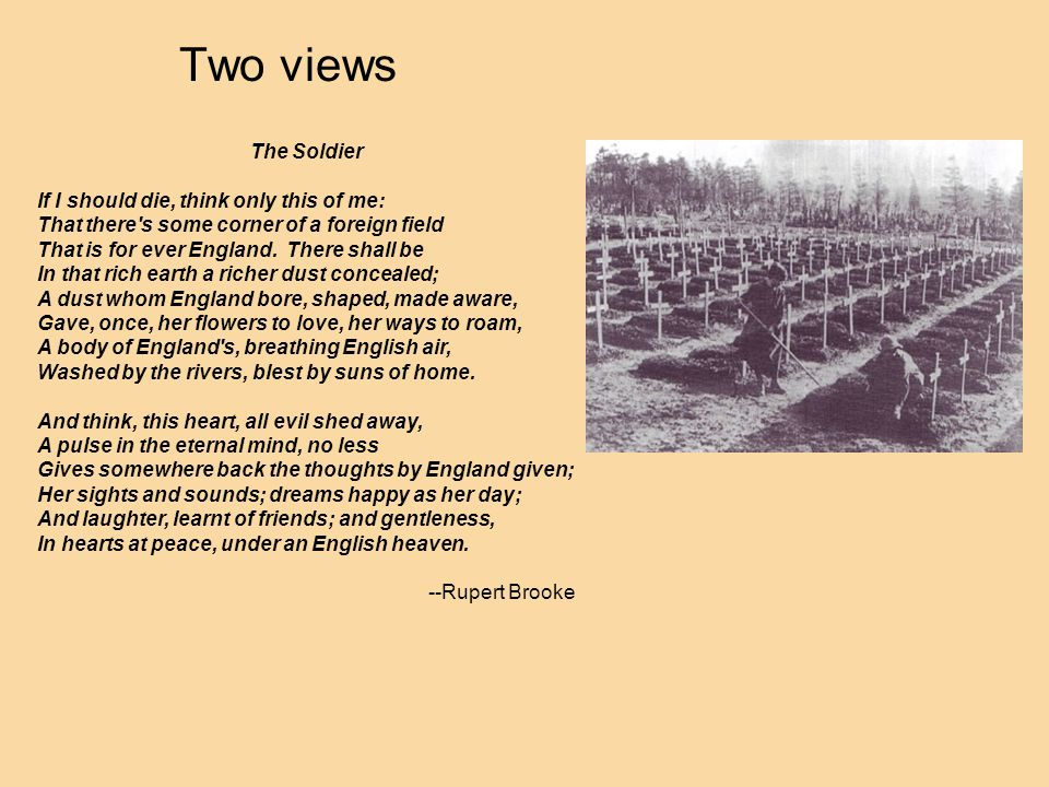 Two views The Soldier.
