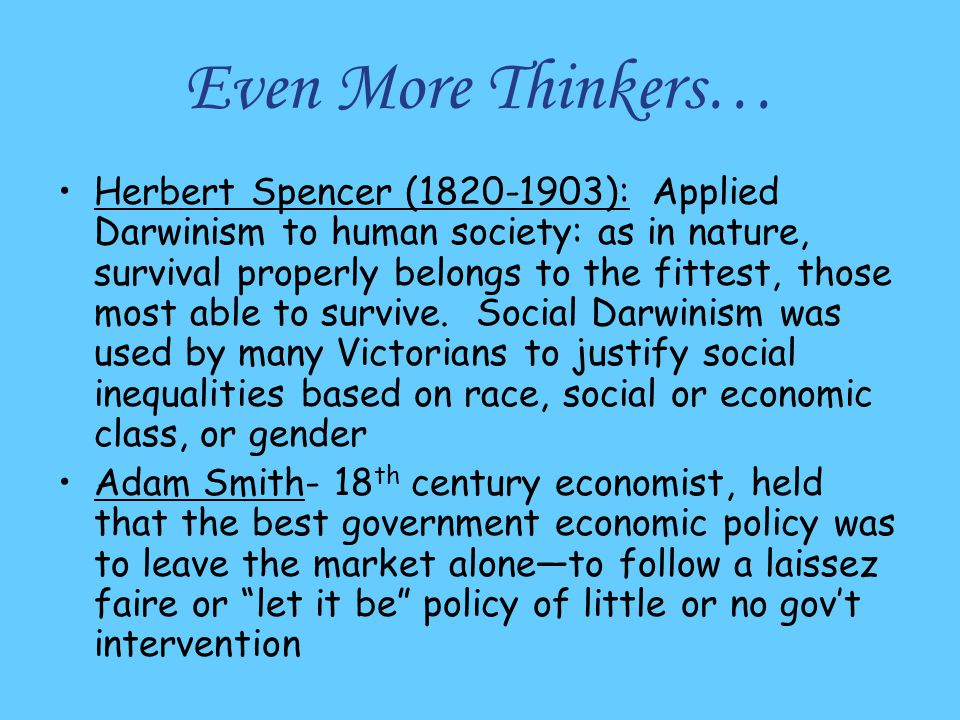 Even More Thinkers…