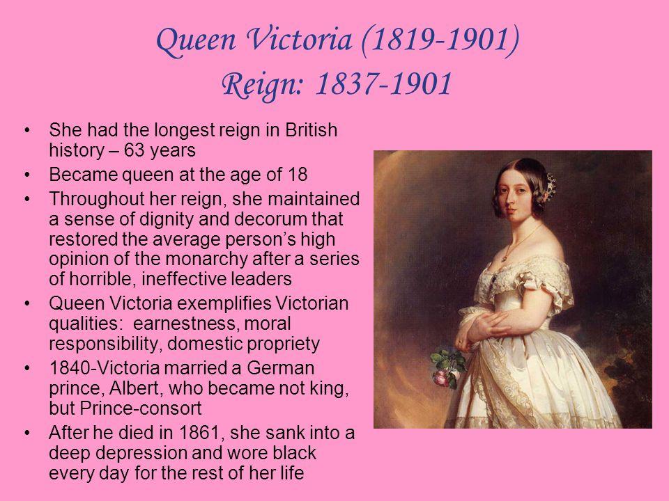 Queen Victoria (1819-1901) Reign: 1837-1901