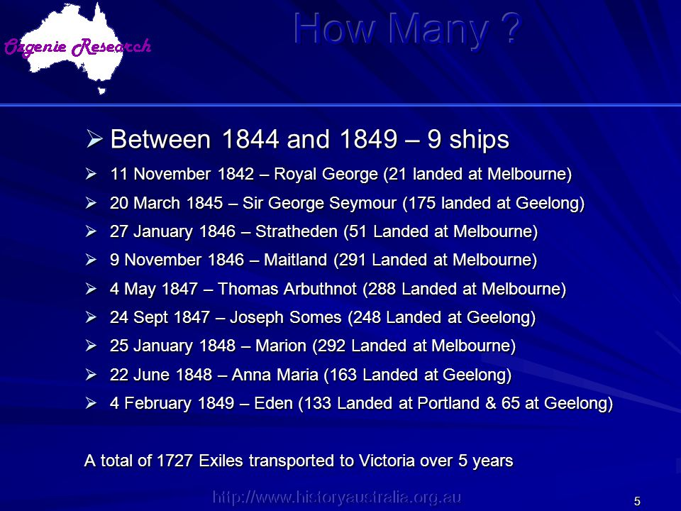 How Many Between 1844 and 1849 – 9 ships