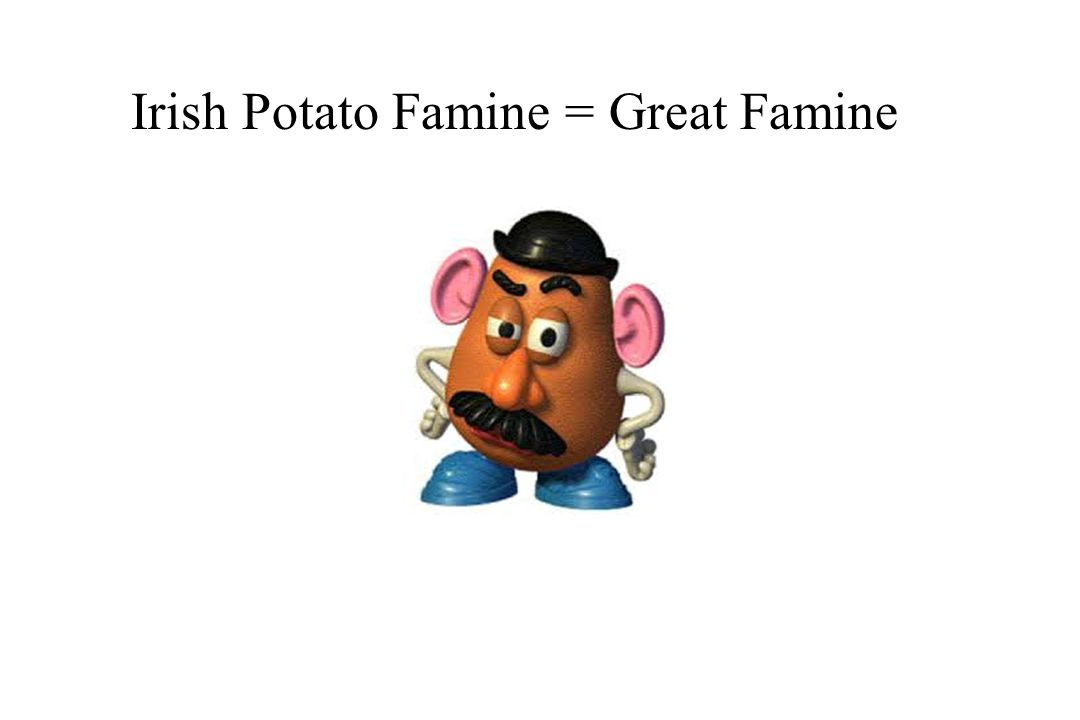 Irish Potato Famine = Great Famine