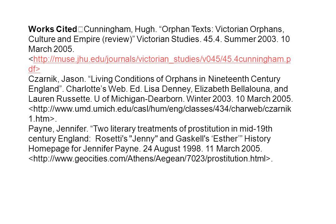 Works Cited Cunningham, Hugh