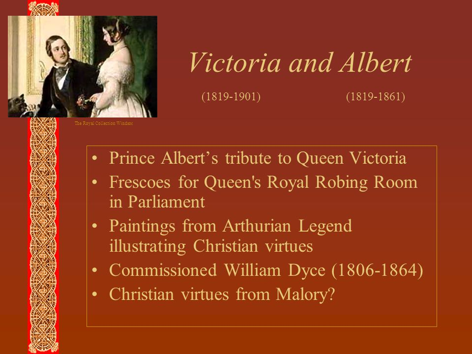 Victoria and Albert Prince Albert's tribute to Queen Victoria