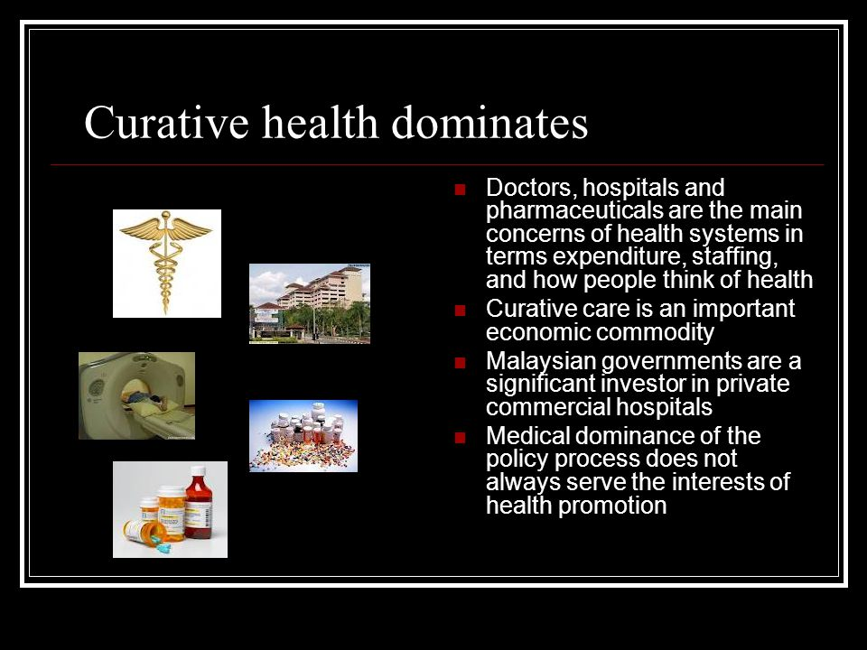 Curative health dominates