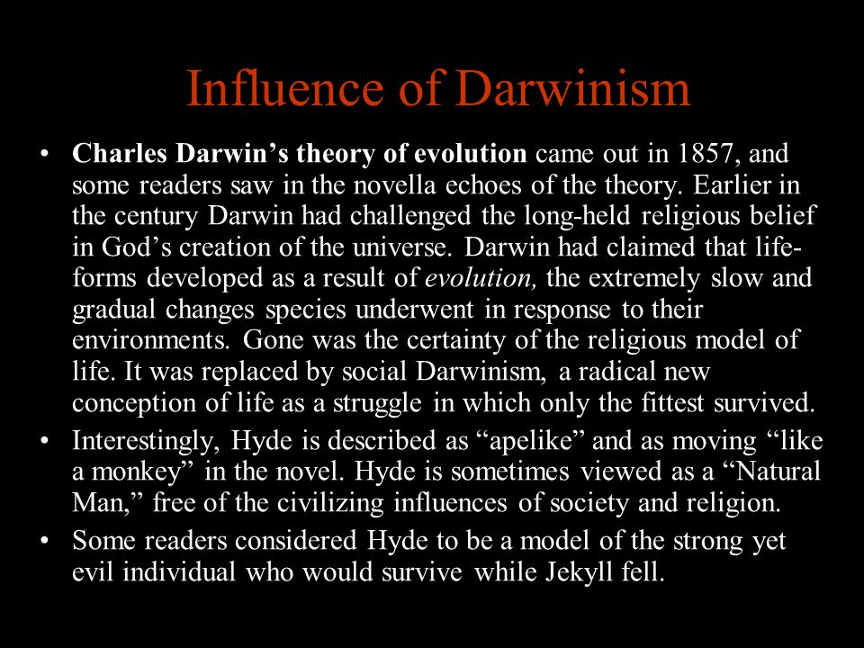 Influence of Darwinism