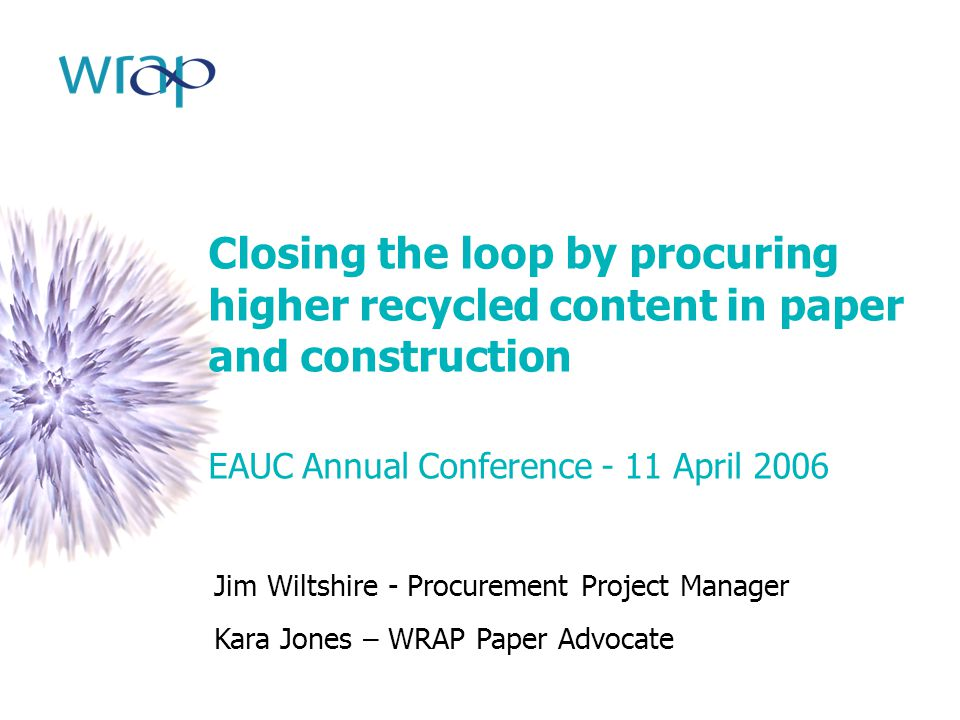Closing the loop by procuring higher recycled content in paper and construction