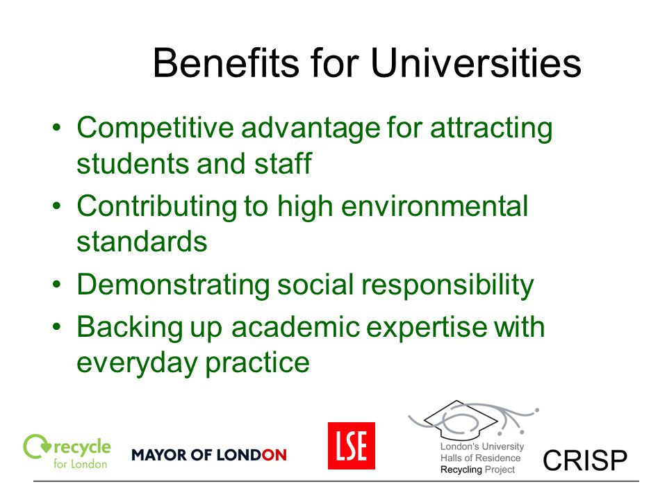 Benefits for Universities