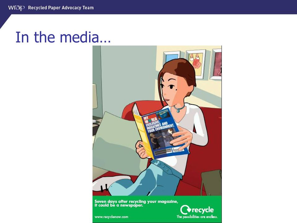 In the media… Promoting magazine recycling