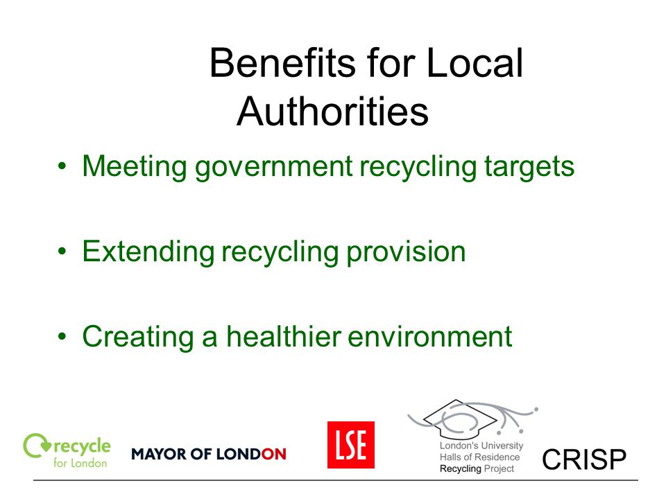 Benefits for Local Authorities