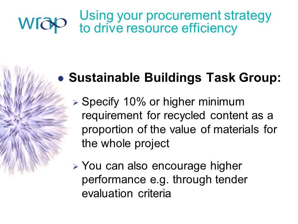 Using your procurement strategy to drive resource efficiency