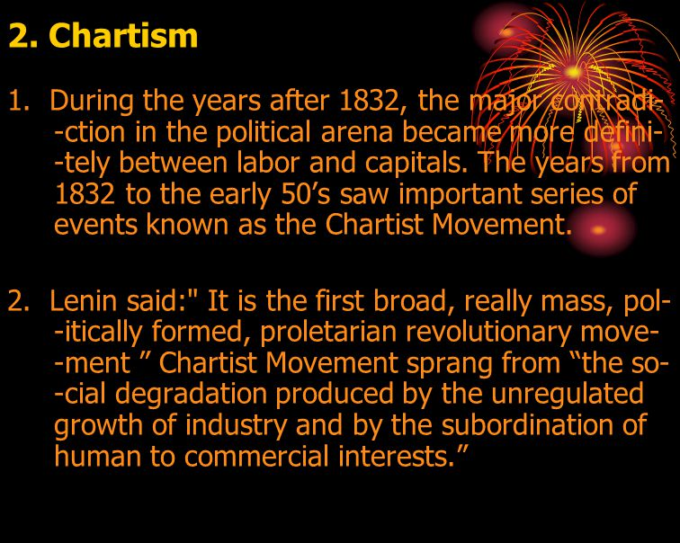 2. Chartism