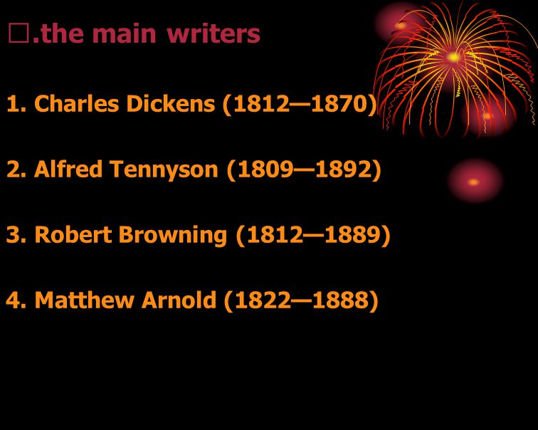 Ⅲ.the main writers 1. Charles Dickens (1812—1870)