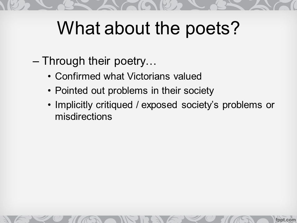 What about the poets Through their poetry…