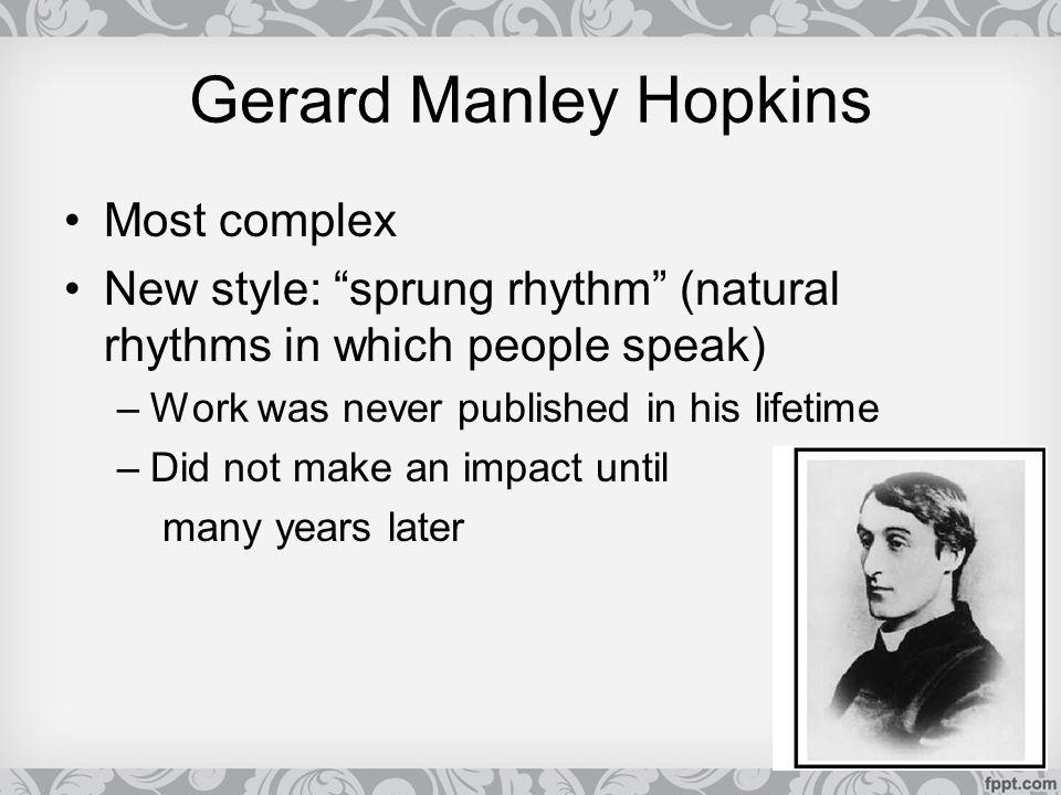 Gerard Manley Hopkins Most complex